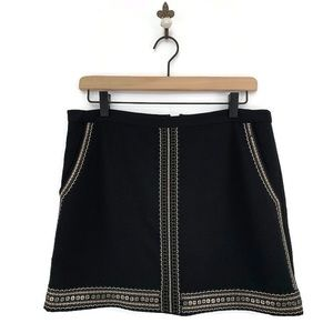 Madewell Embellished Embroidered Mini Skirt Size 4